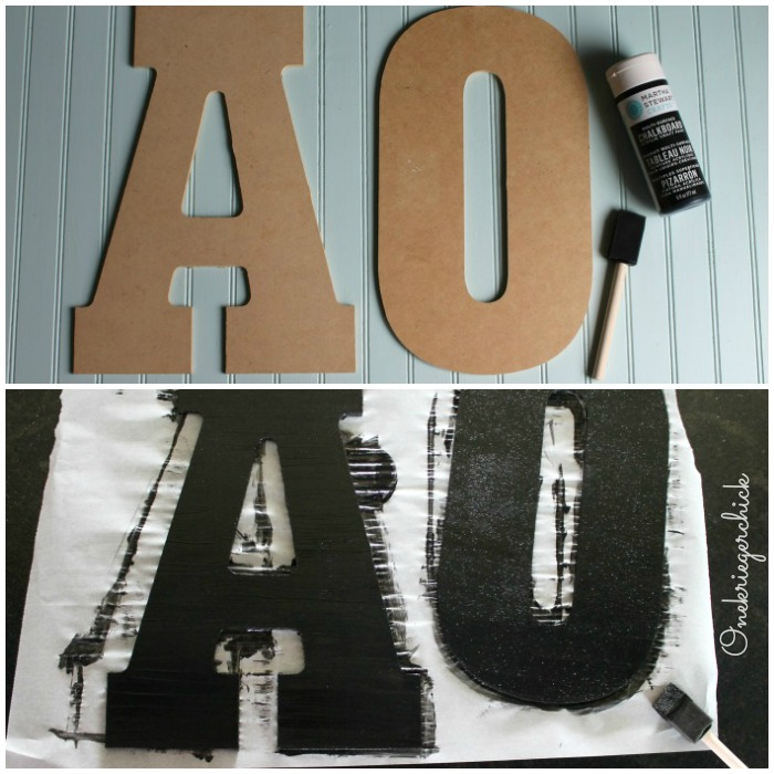 1 Step Chalkboard initials! {Onekriegerchick.com}