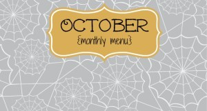 slider October monthly menu