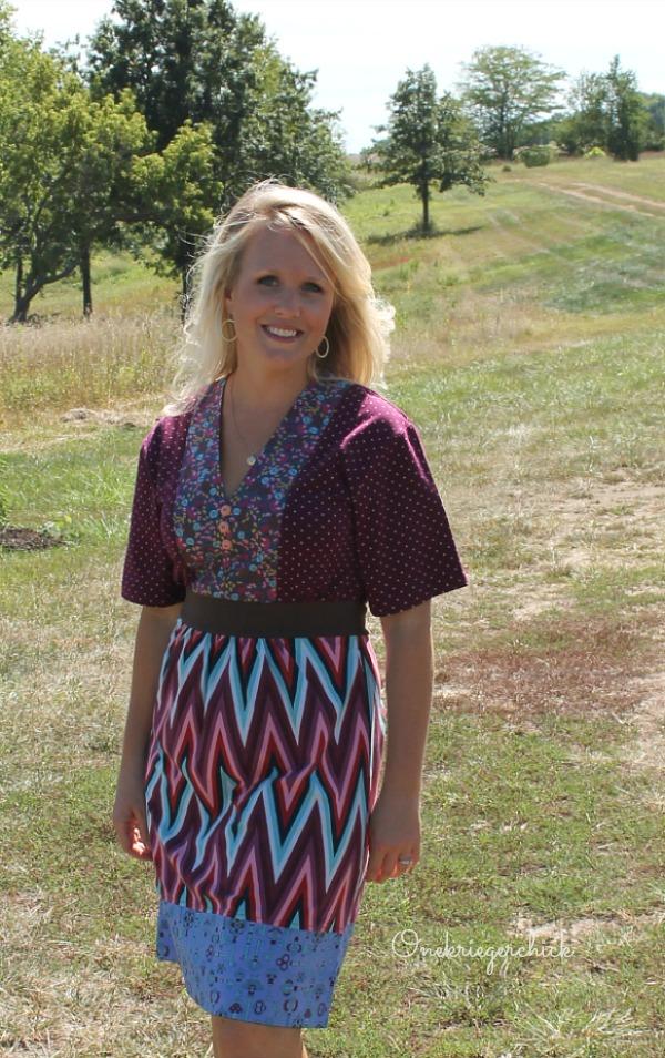 Fall Fashion with Matilda Jane...Loving the Collage Kimono Dress