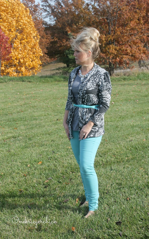 Colored skinnies are perfect for Fall!