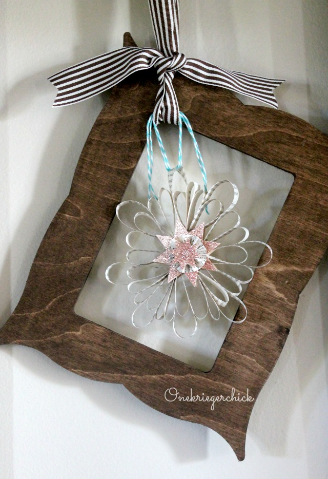 Snowflake Book Page Ornament I Onekriegerchick