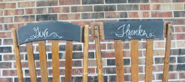 Thankful  chalkboard chairs