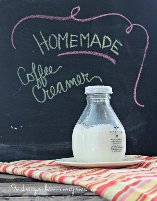{3 ingredient} Homemade Coffee Creamer I onekriegerchick.wordpress.com