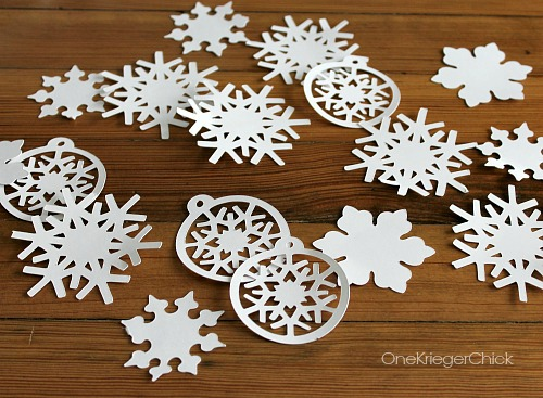 Cut out snowflakes