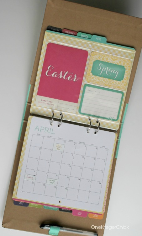 Michaels Recollections Calendar Kit adorable for April!