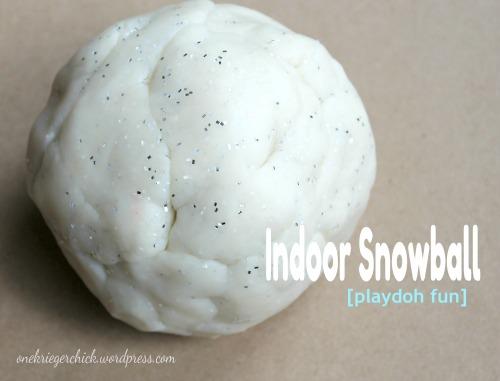 Snow playdoh