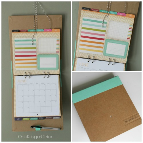 The perfect Mini-Scrapbook- Michaels Recollections Calendar Kit