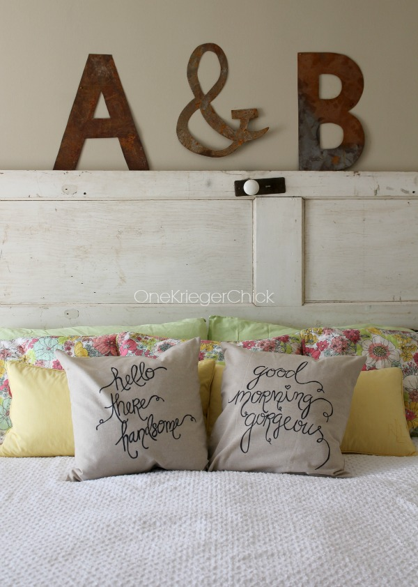 His and Hers pillow covers made with a Sharpie!