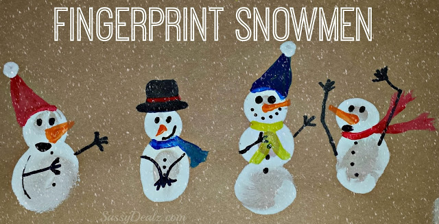 fingerprint-snowmen-crafts-christmas