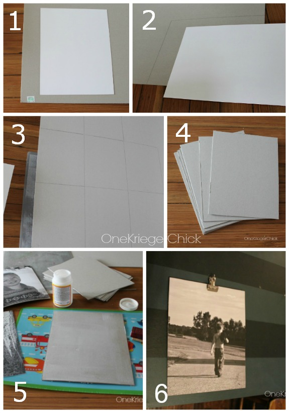 How to mat a photo on chipboard