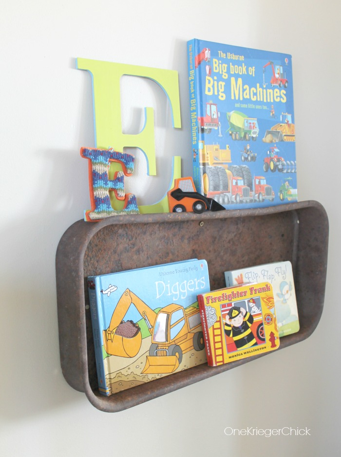 Old-Wagon turned kids bookshelf