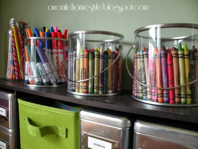 Organized Art Supplies