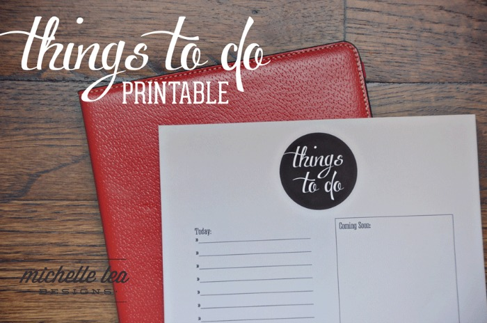 things to do printable from Michelle Lea Designs