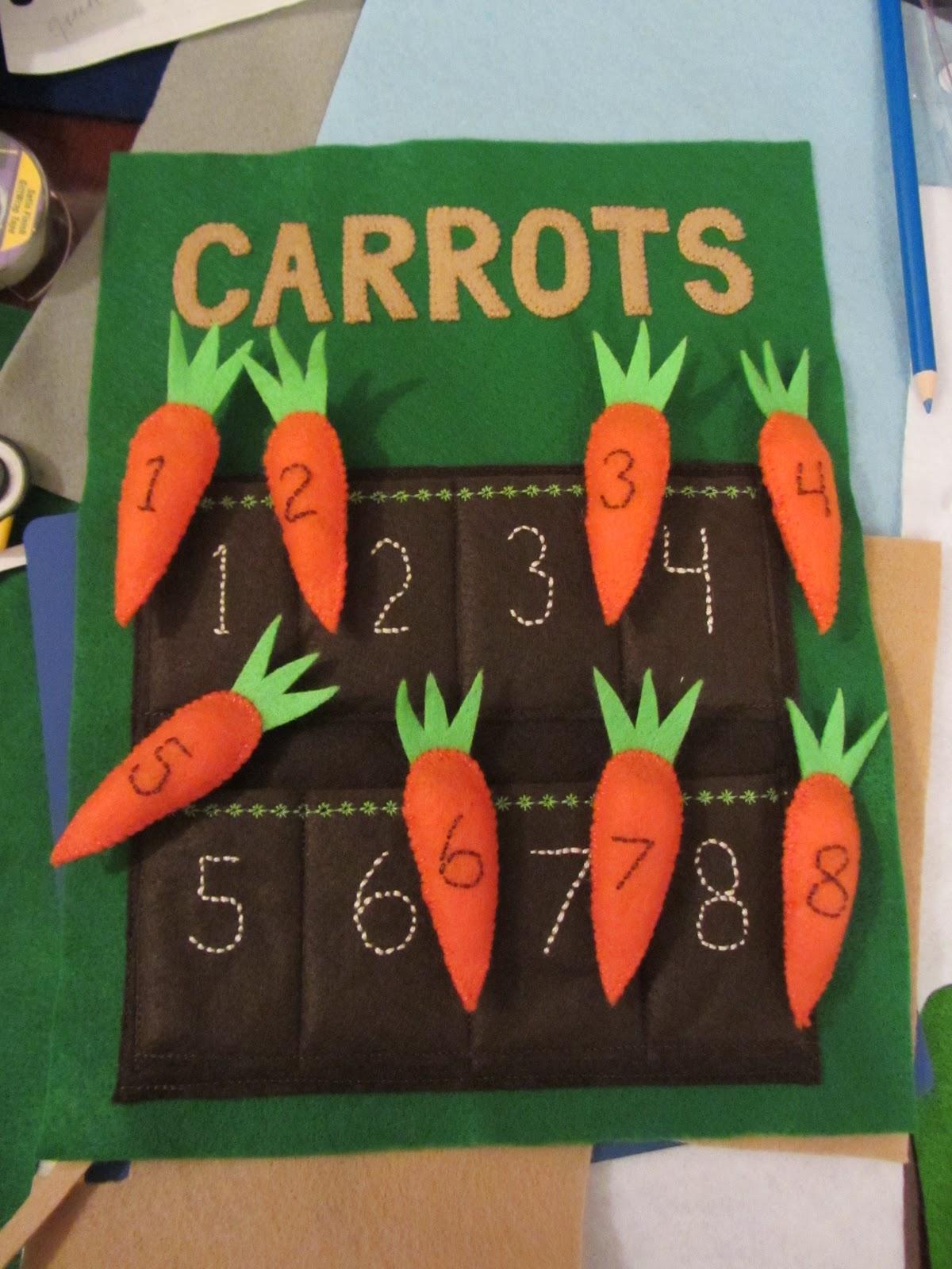 Felt Carrot quiet book