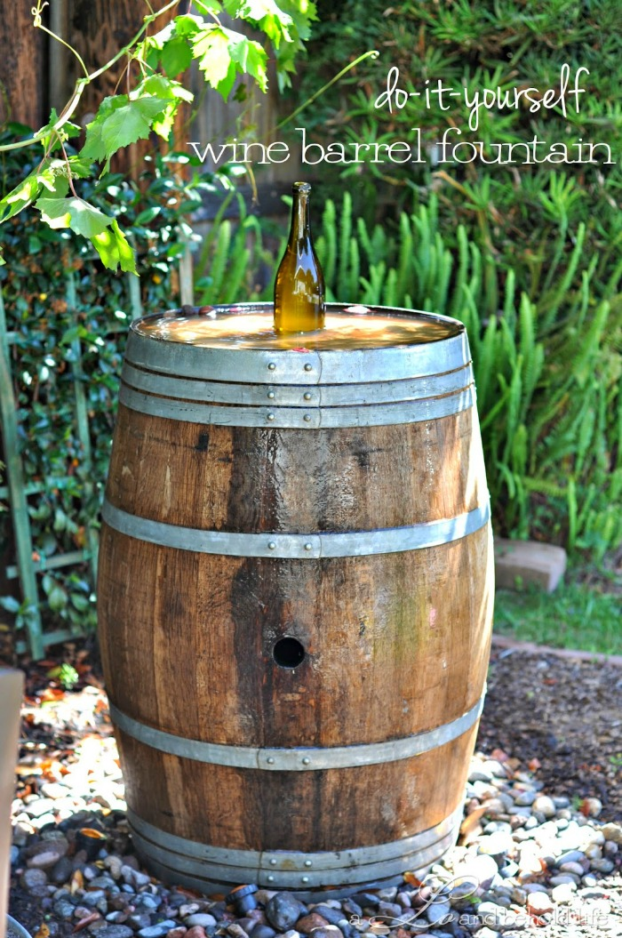 Make your own wine barrel fountain
