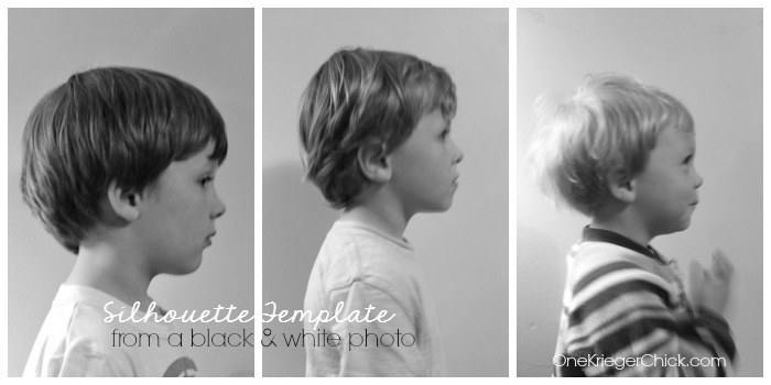 Create a silhouette template from a black and white photo
