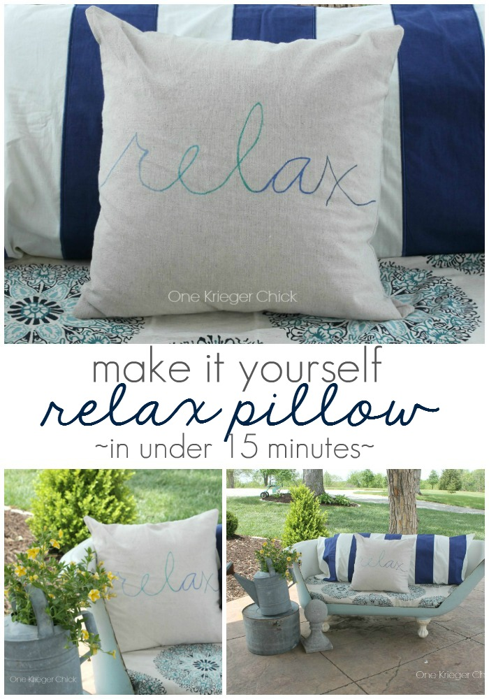 Make-it-Yourself-RELAX-pillow I OneKriegerChick