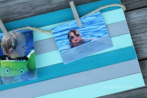 Chalk-painted-wood-slat-frame-perfect-way-to-capture-Summer-memories!