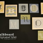 Chalkboard Alphabet Wall with Wallternatives