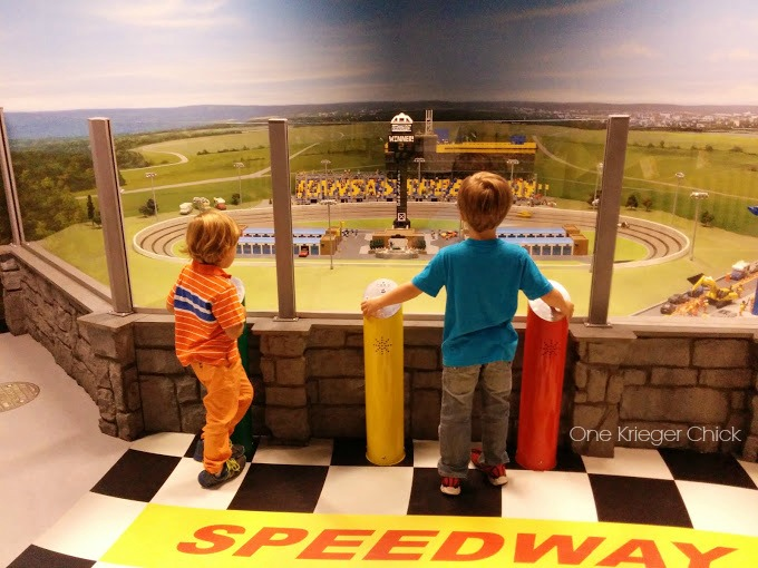 Fun racing lego cars at the mini-Kansas Speedway #LegolandKC