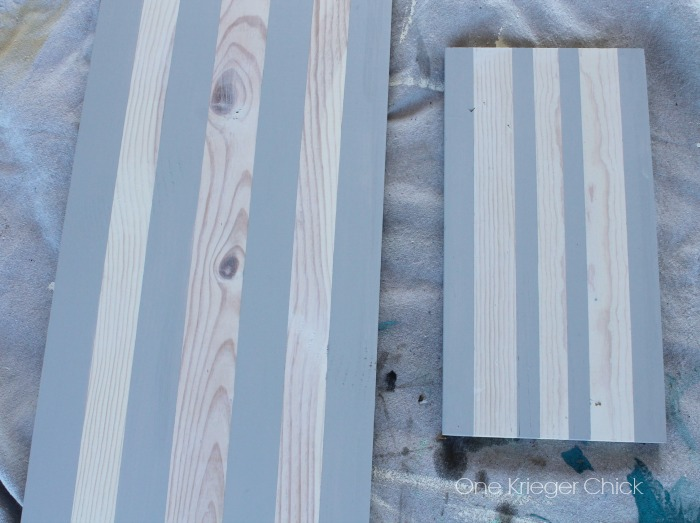 Grey striped board