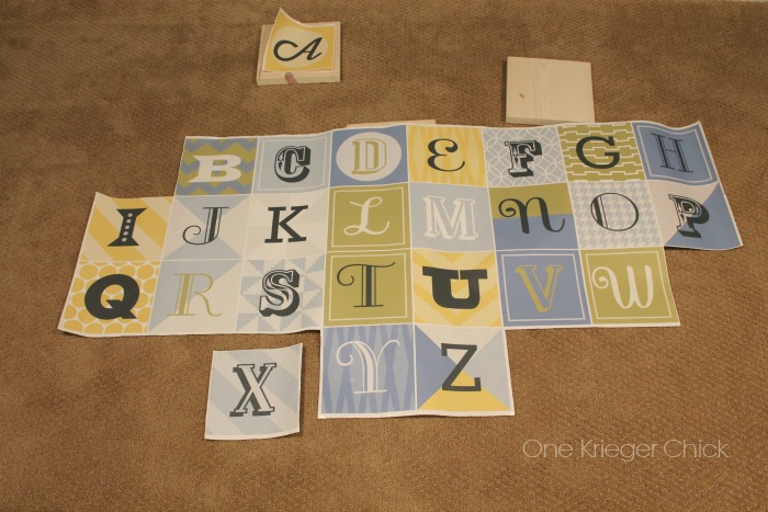 Wallternatives Wood Block Alphabet