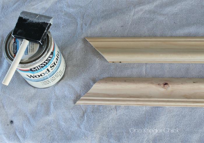 Whitewash wood for frame