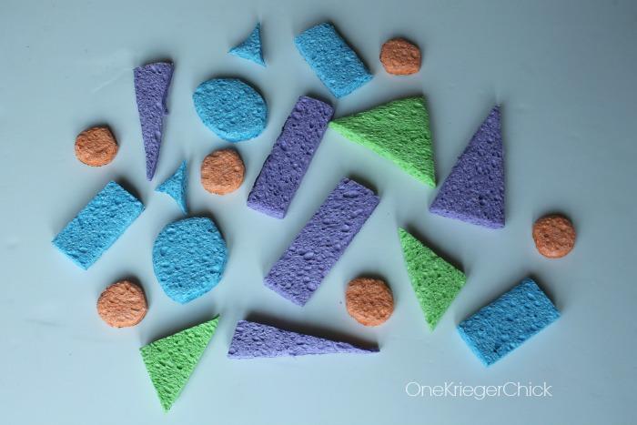 Camp shirt- sponge stamps
