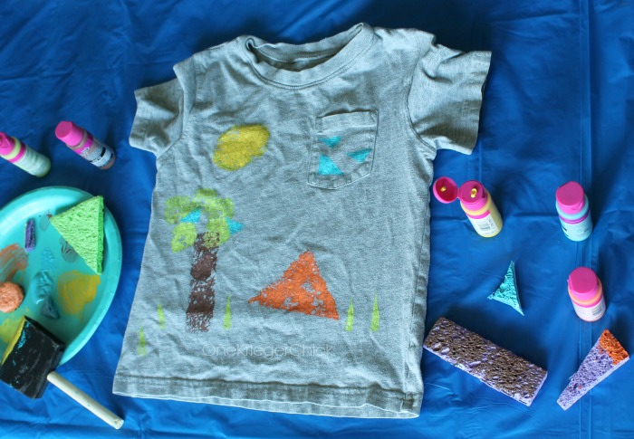 Make a fun kids camp shirt! OneKriegerChick.com