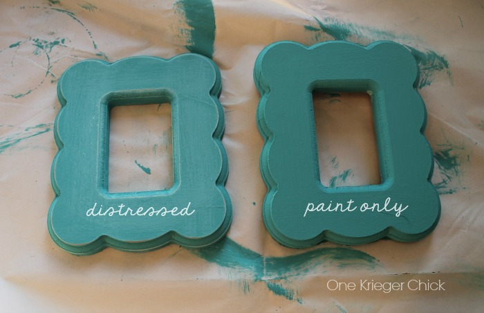 chalk painted mini frame tutorial- OneKriegerChick.com