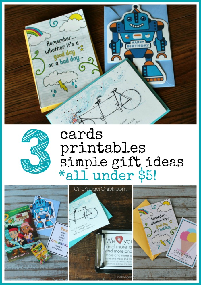 3 Card gift giving ideas all under $5! OneKriegerChick.com #ValueCards #shop