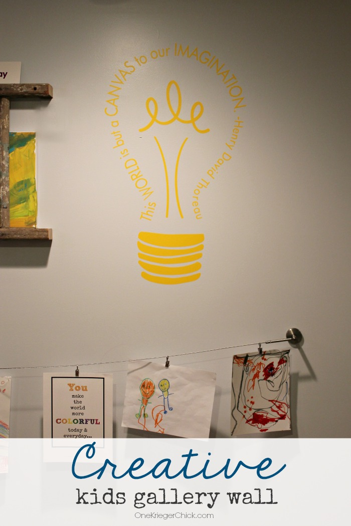 Creative Kids Gallery Wall with wallternatives-OneKriegerChick.com