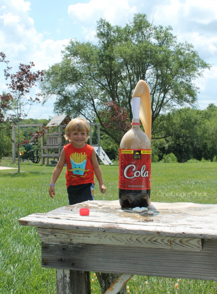 Exploding Soda-Science is so fun! OneKriegerChick.com