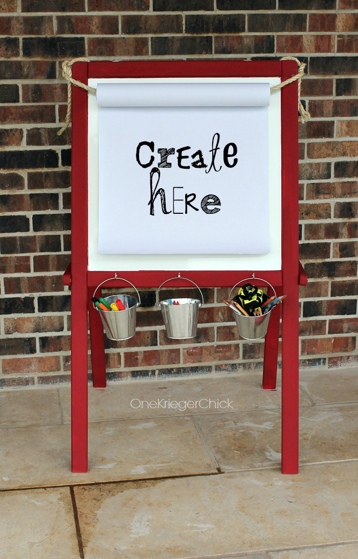 Kids-Easel-Makeover-from-a-$1-garage-sale-find-OneKriegerChick.com
