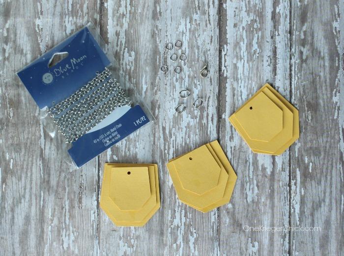 mini hexagon bib necklace-supplies-OneKriegerChick.com CricutExplore #DesignSpaceStar