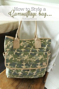 How to style a Camouflage bag-OneKriegerChick.com