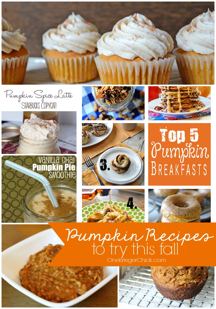Pumpkin Recipes to try this Fall-Yum!! OneKriegerChick.com