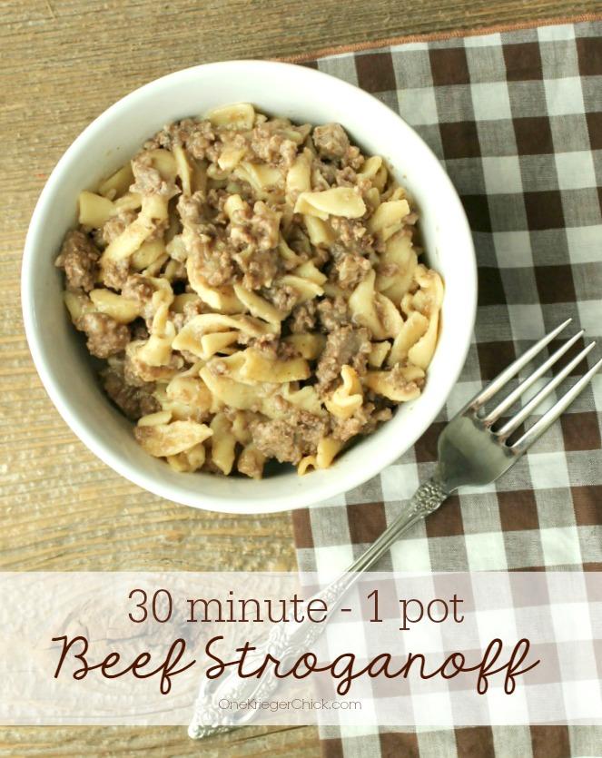 30 Minute-One Pot- Beef Stroganoff- OneKriegerChick.com
