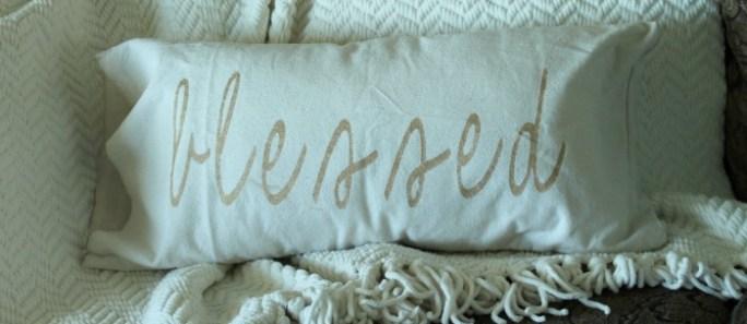 Gratitude Pillow {and an update…}