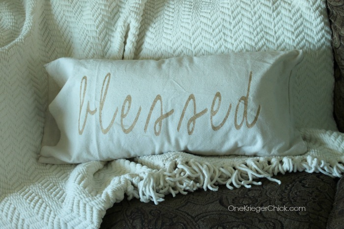Blessed pillow- OneKriegerChick.com