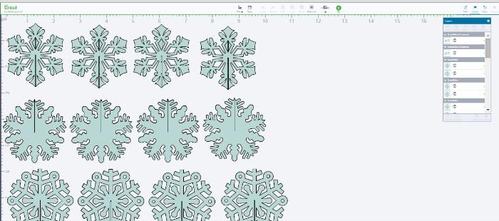 snowflake silhouette on Cricut Explore- OneKriegerChick.com