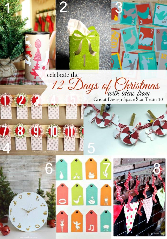 !2 Days of Christmas Ideas created with the Cricut Explore from Cricut Design Space Star Team 10 #CDSSTeam10