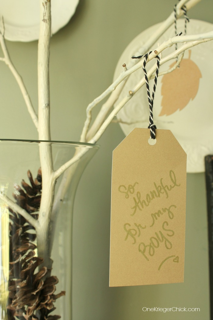 Thankful Tree- thankful tags- OneKriegerChick.com