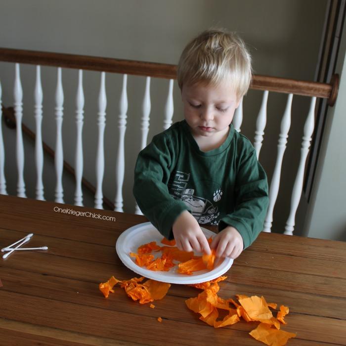 M is for Monster- Pumpkin plates- OneKriegerChick.com