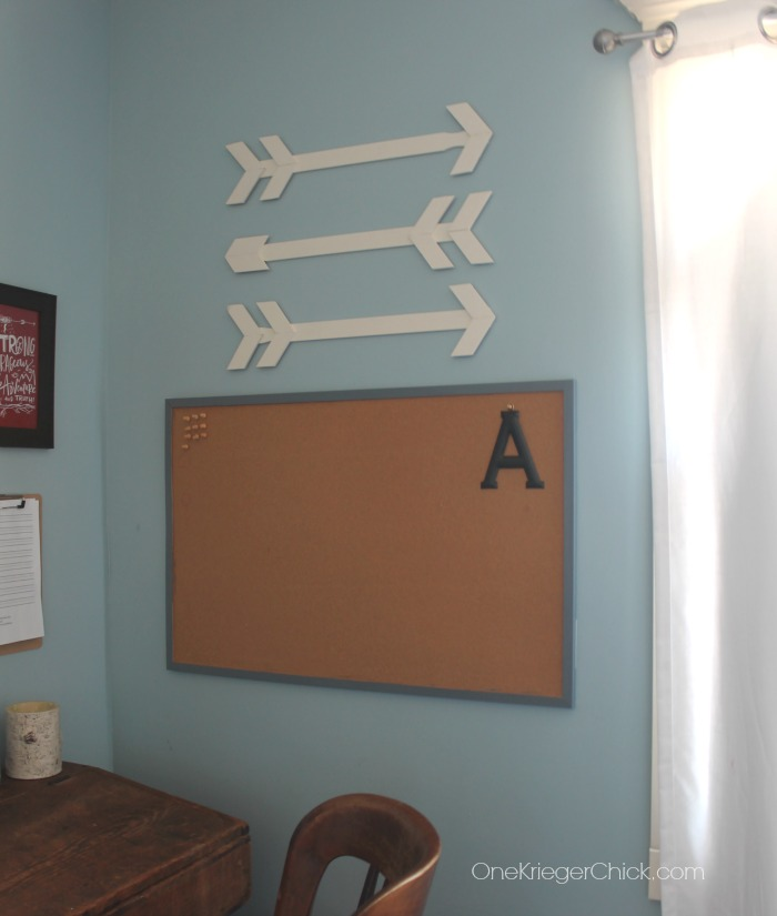 Arrow Wall Art- made from paint sticks- OneKriegerChick.com