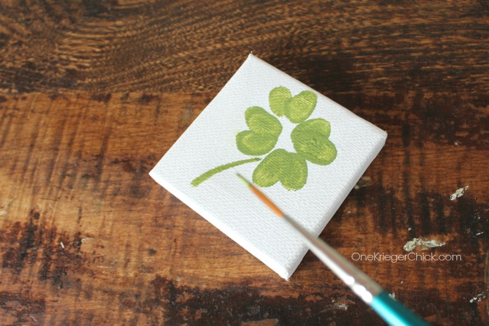 Fingerprint Shamrock Kids Art- OneKriegerChick.com