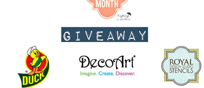 Craft Month Recap & Giveaway!