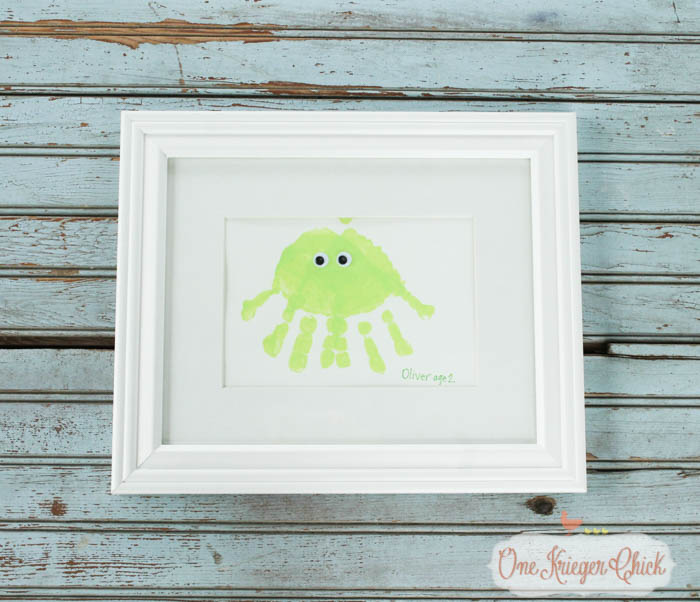 Create one of a kind Sea Animal Handprint Art- quick, easy, and oh so cute!-3- OneKriegerChick.com-1