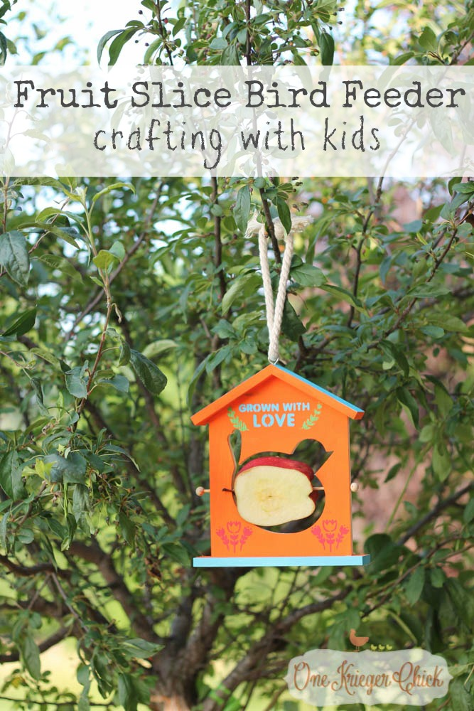 Fruit Slice Bird Feeder- Fun Summer crafting with kids with We Made It Craft Kits- OneKriegerChick.com
