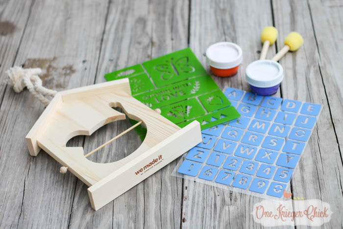 Fruit Slice Bird Feeder- Fun Summer crafting with kids with We Made It- OneKriegerChick.com 2